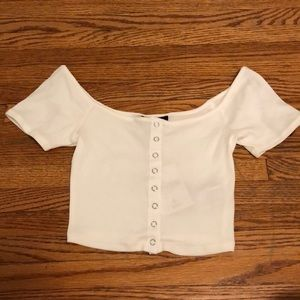 NWT forever 21 cropped off the shoulder top
